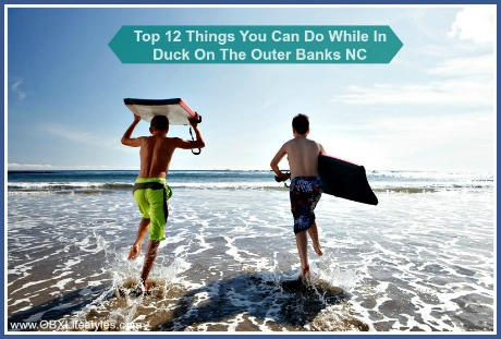 Surfing with your friends is just one of the fun things that you can do while in Duck on the Outer Banks NC.