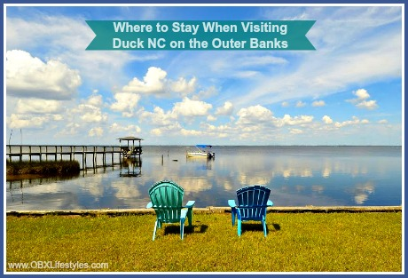 Rental homes in Duck are just a few minutes away from pristine beaches, the Currituck Sound, and sparkling blue sea.