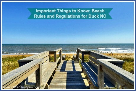 OBREC Duck Outer Banks beach rules and regulations - boardwalk